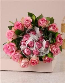 flowers: Pink Rosy Chocolate Arrangement!