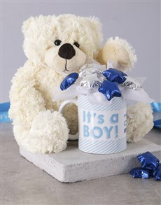 flowers: Its a Boy White Bear Arrangement!