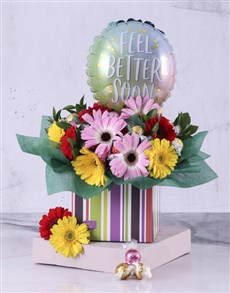 gifts: Get Better Soon Chocolates and Flowers!