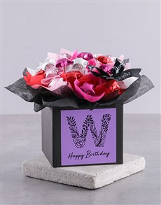 flowers: Personalised Birthday Chocolate Box for You!