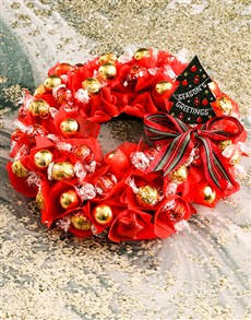 gifts: Luscious Lindt Wreath!