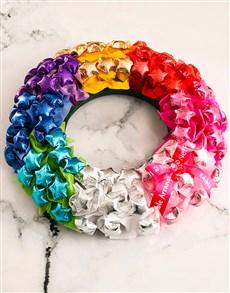 flowers: Rainbow Chocolate Wreath!