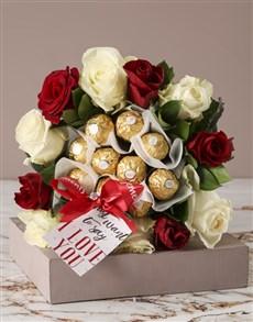 flowers: Romantic Rose and Choc Edible Arrangement!