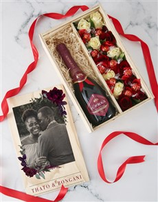 gifts: Personalised Champagne and Roses Crate!