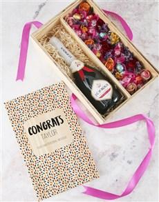flowers: Personalised Congrats Edible Arrangement Crate!