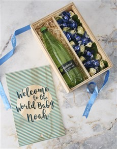 flowers: Personalised Welcome Baby Boy Crate!
