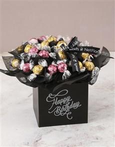 flowers: Refined Lindt Truffle Birthday Bouquet!