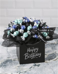 flowers: Opulent Lindt Truffle Birthday Bouquet!