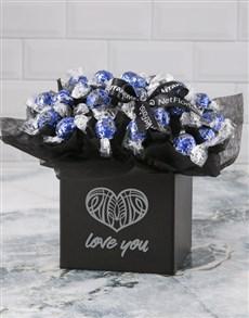 flowers: Love You Dark Choc Lindt Bouquet!