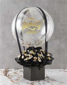 gifts: Personalised Birthday Balloon Edible Arrangement!