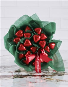 gifts: Heart Chocs Edible Bouquet!