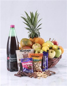 flowers: Seasonal Fruit and Treats Basket!