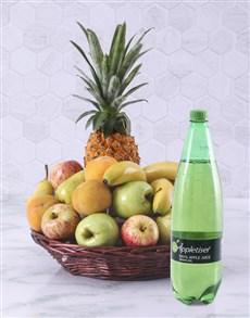 flowers: Fruity Basket with Appletizer!