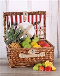 flowers: Fruit Lovers Picnic Basket!