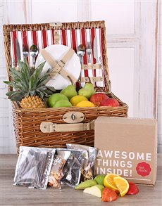 flowers: Fruit and Snack Picnic Basket!