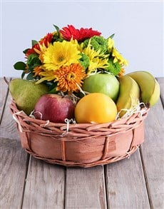 gifts: Quaint Fruit and Flower Basket!