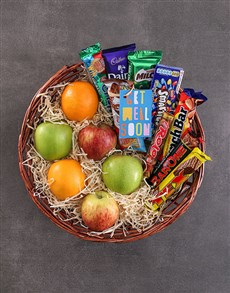 flowers: Get Well Fruit and Choc Basket!