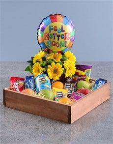 flowers: Feel Better Balloon and Treat Crate!