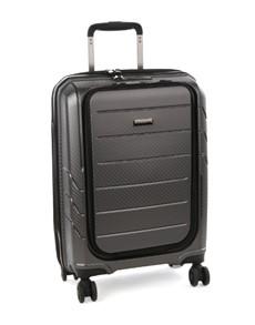 brands: Cellini Microlite Wheel Carry On Case Metal!