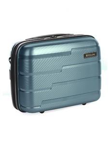 brands: Cellini Microlite Beauty Case Bag Blue!