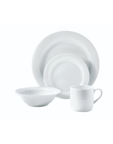 brand: Noritake Arctic White Sixteen Piece Dinner Set!