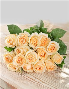 gifts: Cream Roses in Craft Paper!