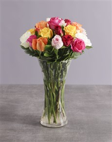 flowers: Mighty Mixed Rose Arrangement!