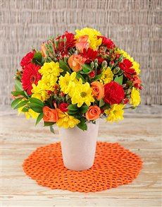 flowers: Red and Yellow Mix of Flowers!