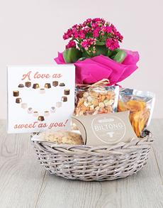 flowers: Kalanchoe and Snacks Basket!