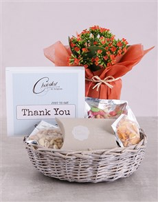 gifts: Thank You Kalanchoe and Snacks Basket!