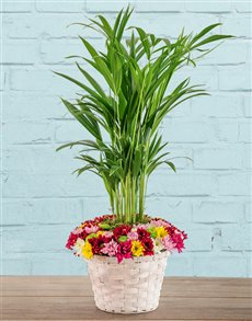 flowers: Bright Bamboo Basket!