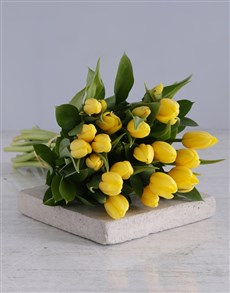 gifts: Yellow Tulip Bouquet!