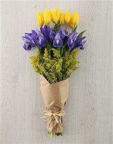 plants: Tulip and Iris Bouquet!