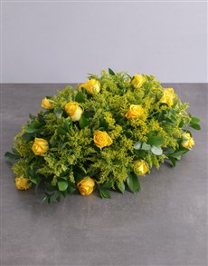 flowers: Yellow Roses Sympathy Arrangement!