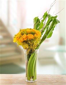flowers: Sunburst Arum Arrangement!