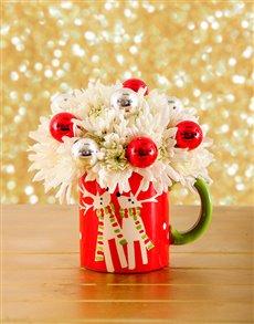 flowers: Festive Christmas Mug!