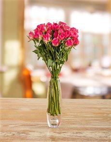 flowers: Pink Kenyan Cluster Roses in a Vase!