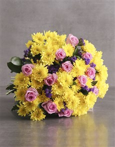 flowers: Cheerful Pompom Mixed Flower Bouquet!
