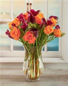 gifts: African Dusk Arum Lily Arrangement!