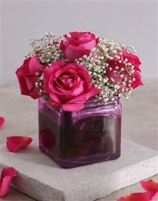 gifts: Pink Lady Rose Vase!
