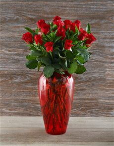 flowers: Rosey Red Rose Delight!