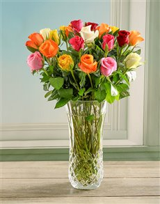 flowers: Opulent and Bright Rose Crystal Vase!