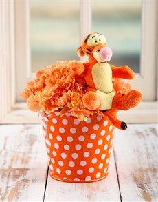flowers: Tigger Flower Bucket!