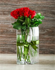 flowers: Red Rose Lovers Vase!