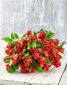 flowers: Lovingly Tender Cluster Rose Bouquet!
