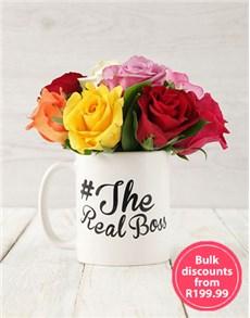 flowers: The Real Boss Mixed Rose Arrangement in Bulk!