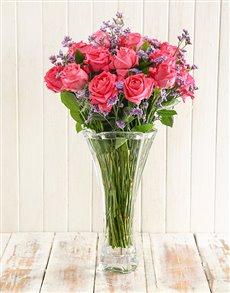 flowers: WOW Cerise Rose Arrangement!