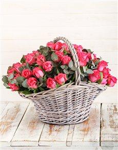 flowers: Basket of Cerise Roses!