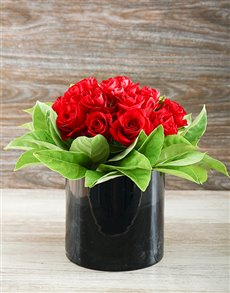 flowers: Enchanted Red Roses!