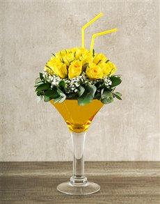 flowers: Elegant Yellow Rose Cocktail!